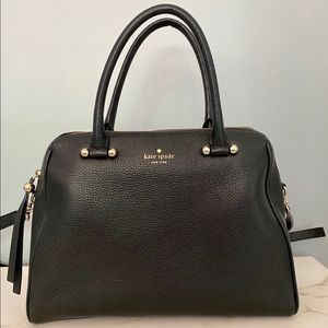 Kate Spade Classic Black Leather Handbag